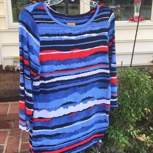 Ruby Rd. 3/4 length sleeve knit shirt